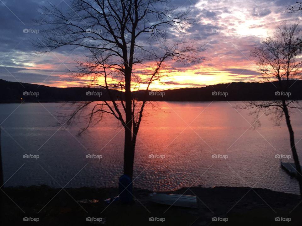 Sunset over Lake Wallenpaupack