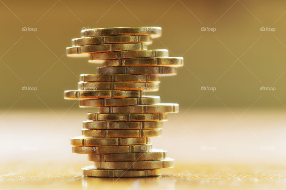 Euro cent stack