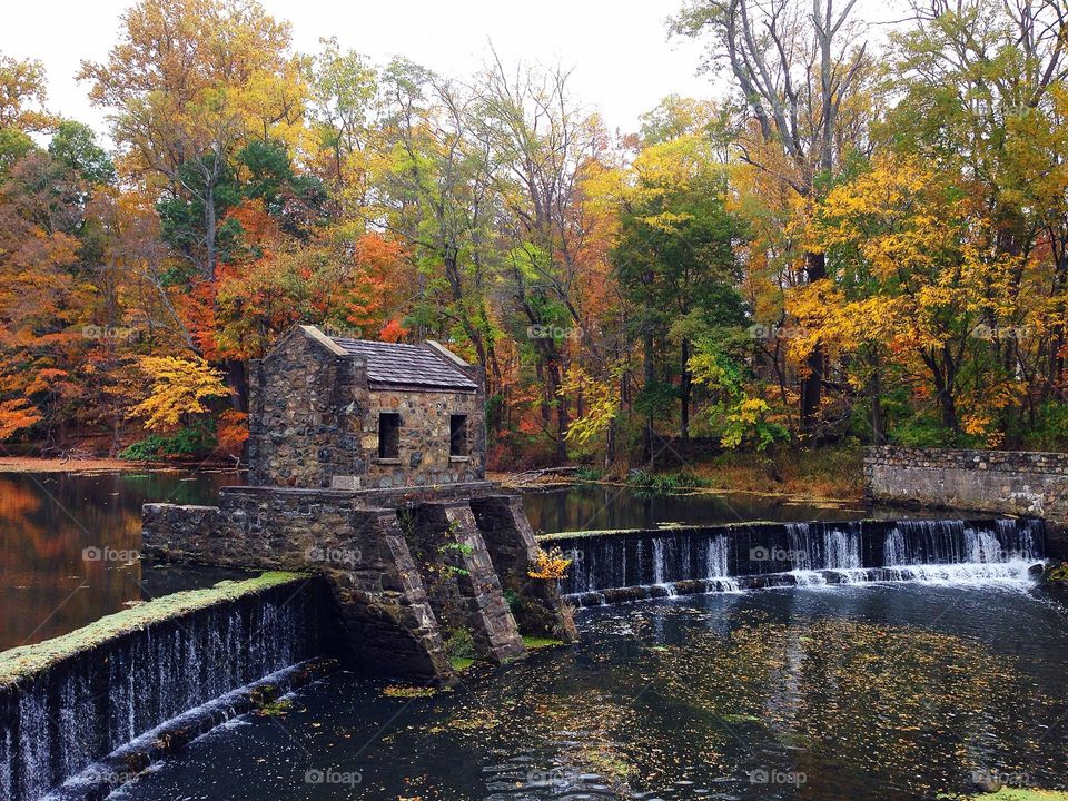 Autumn at Speedwell Lake in Morristown, New Jersey
