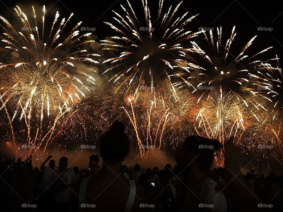 Amazing New Year at Copacabana (RJ), Brazil. Ten minutes of fireworks and I was grateful for registering a part of this incredible moment.