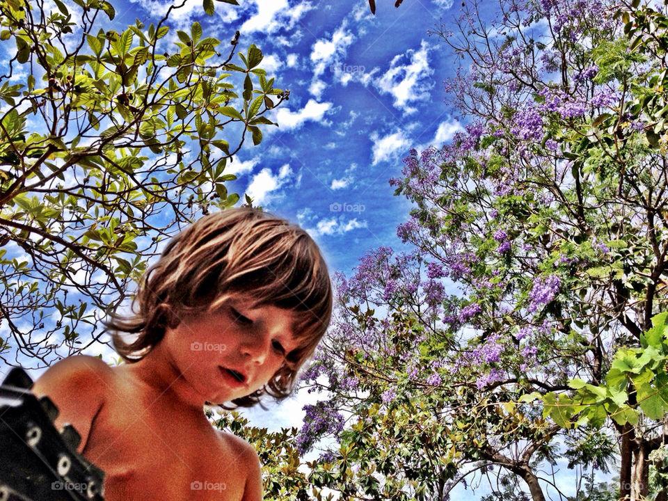 sky happy child clouds by evanilsen