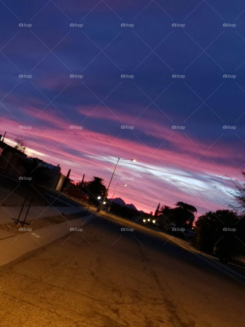sunset, amazing glow