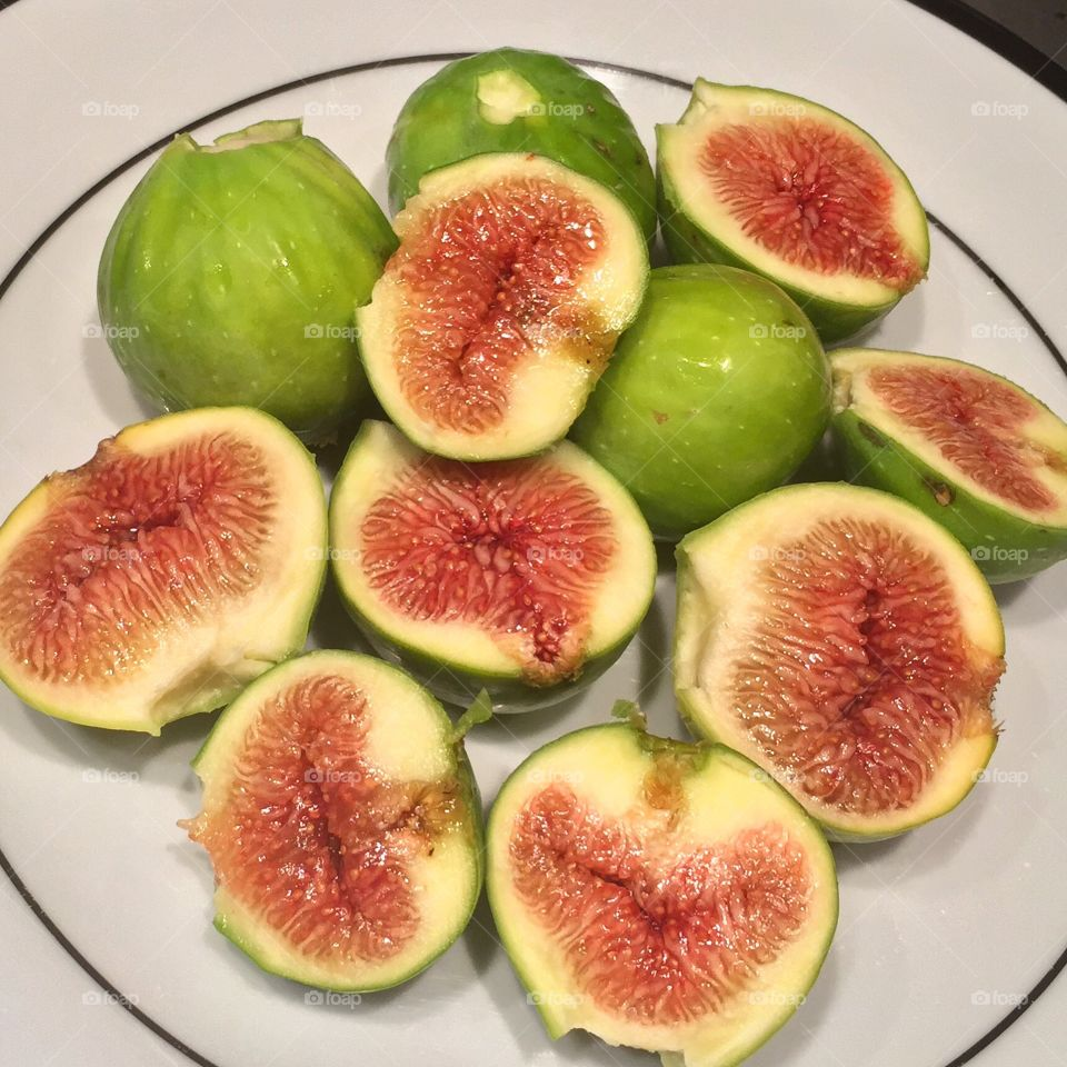 Figs . First figs of the year from my tree in Hollywood California
