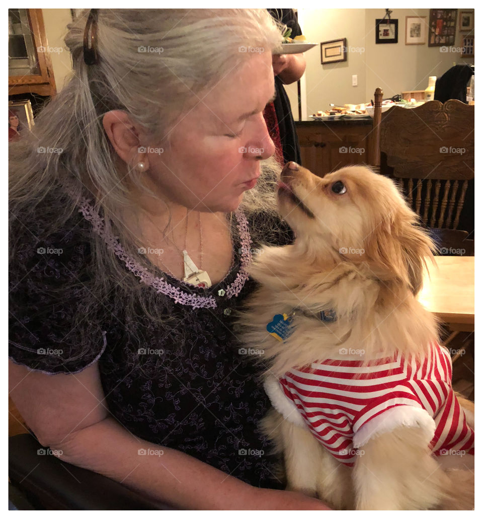 Disabled mother and loyal service dog. Not just a pet but family