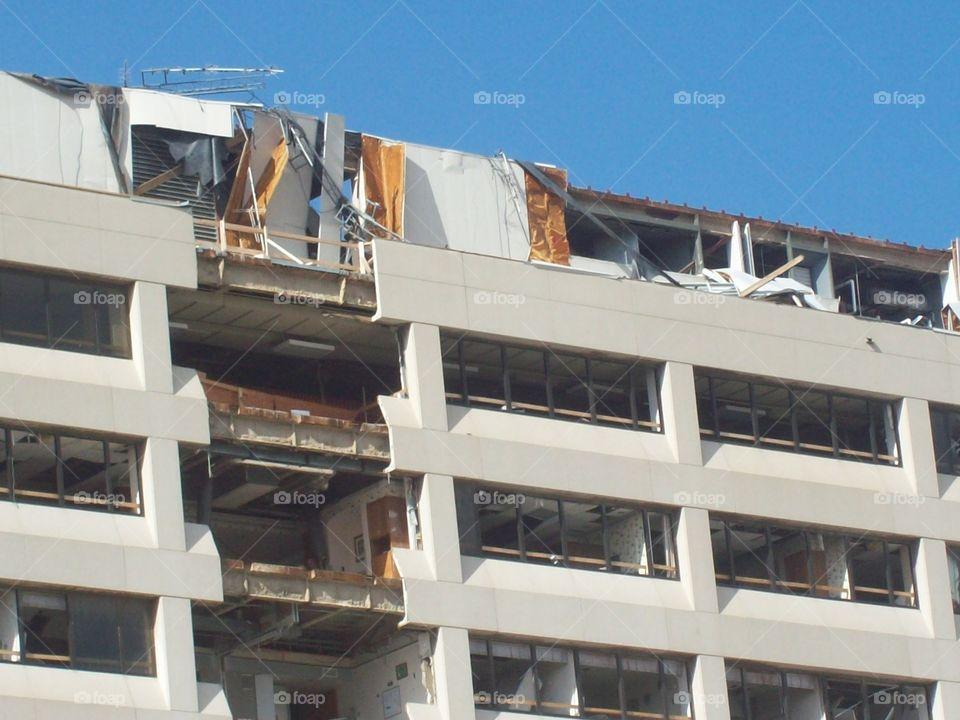 St John's Hospital damage