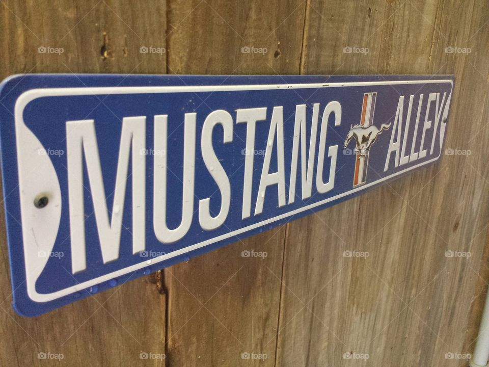 Mustang Alley Sign