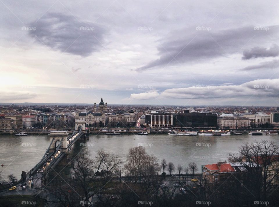 View on the Budapest. Capital of Hungary.
