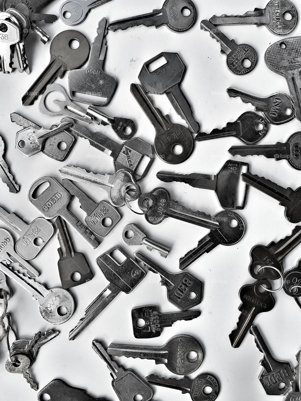 old and new keys pattern background