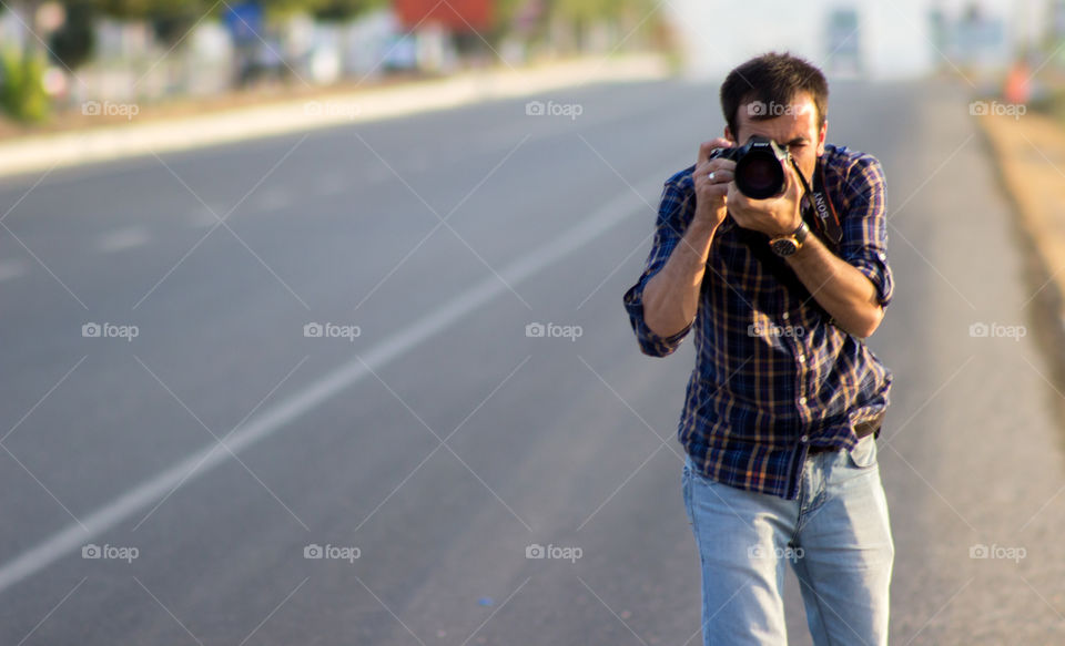 Photographer on the road