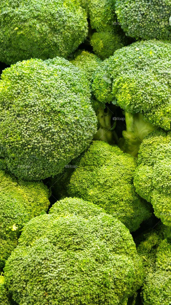 Green. broccoli