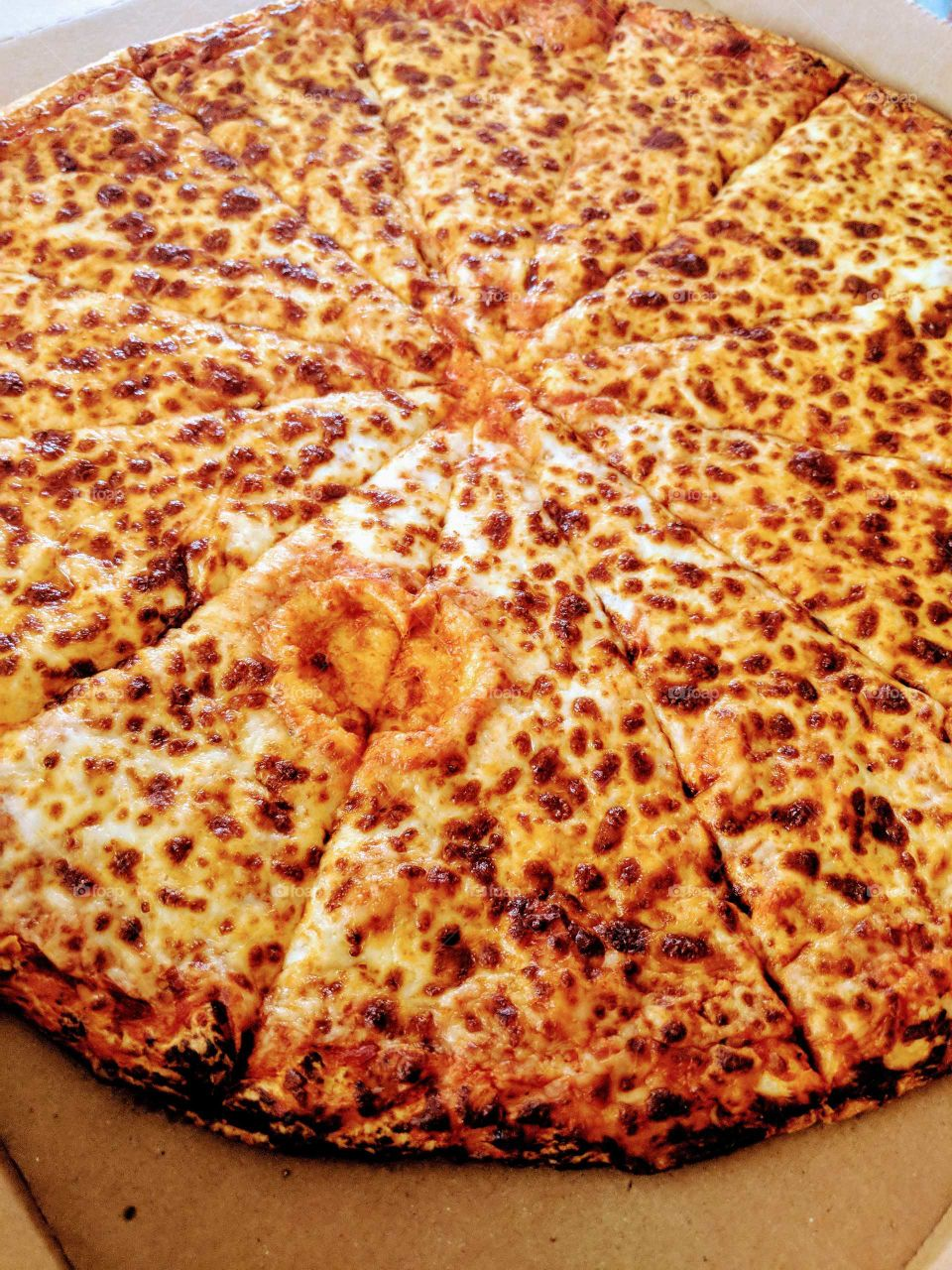 I love pizza!!! can you see the heart?lol