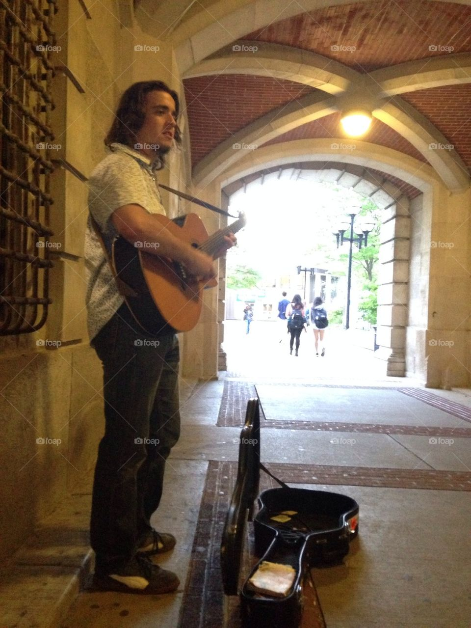 Jay Fry playing for the people