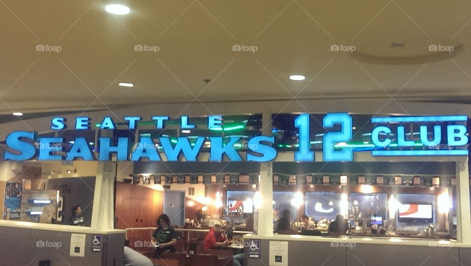 Seattle Seahawks. At the airport!
