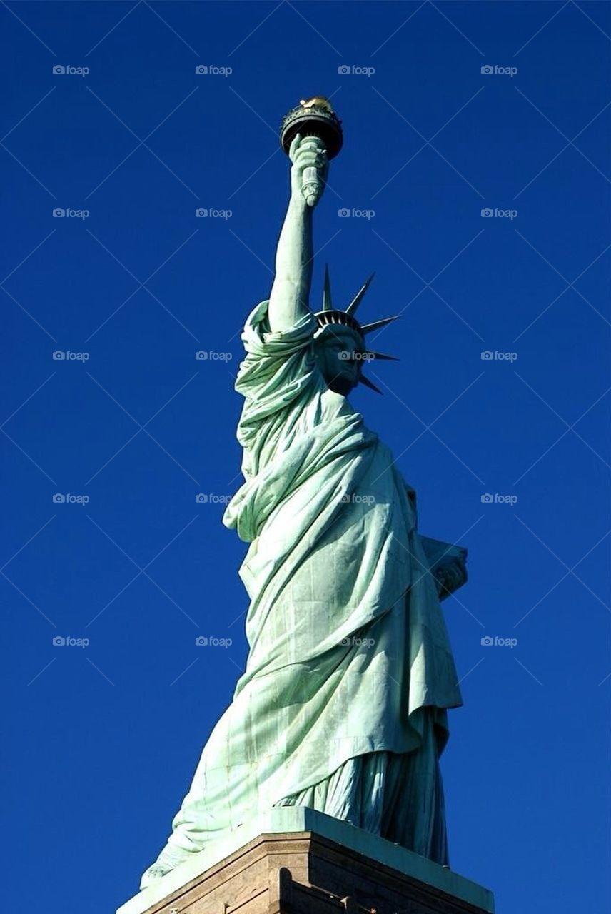 Statue of Liberty | pmihaylov, statue of liberty, new york, sunset