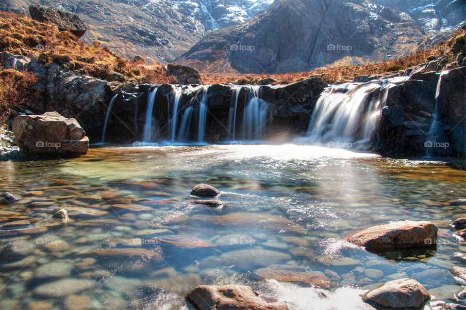 Waterfalls at the fairy pools
