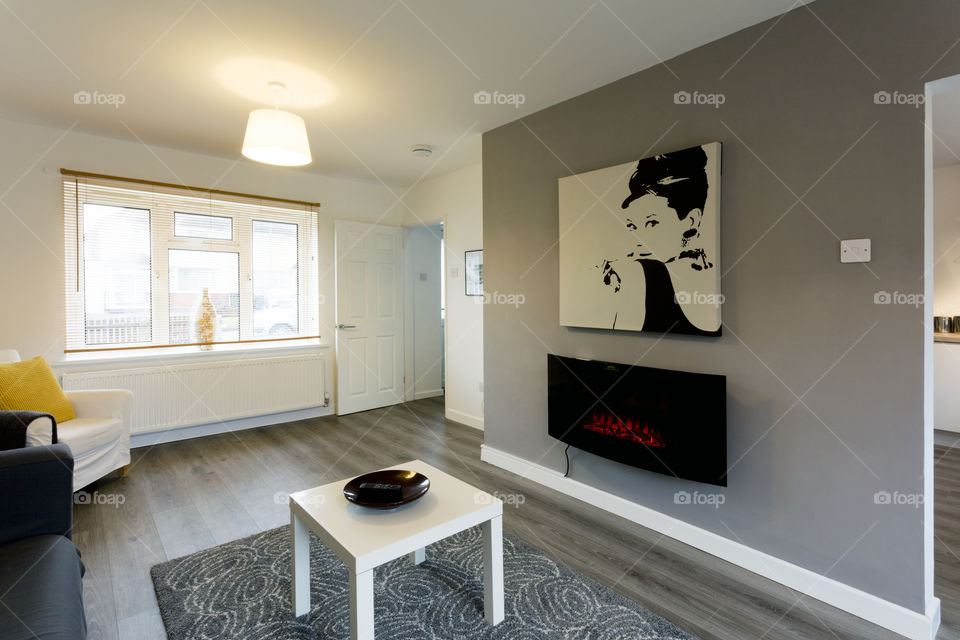Interior of newly decorated and refurbished house. This image has a property release.