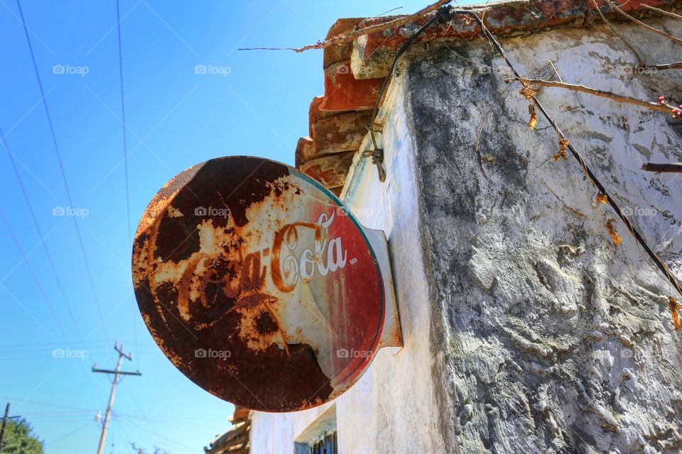 Old Coca Cola sign in Mexico