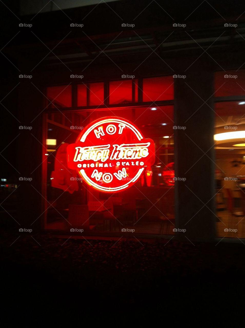 Hot fresh Krispy Kreme