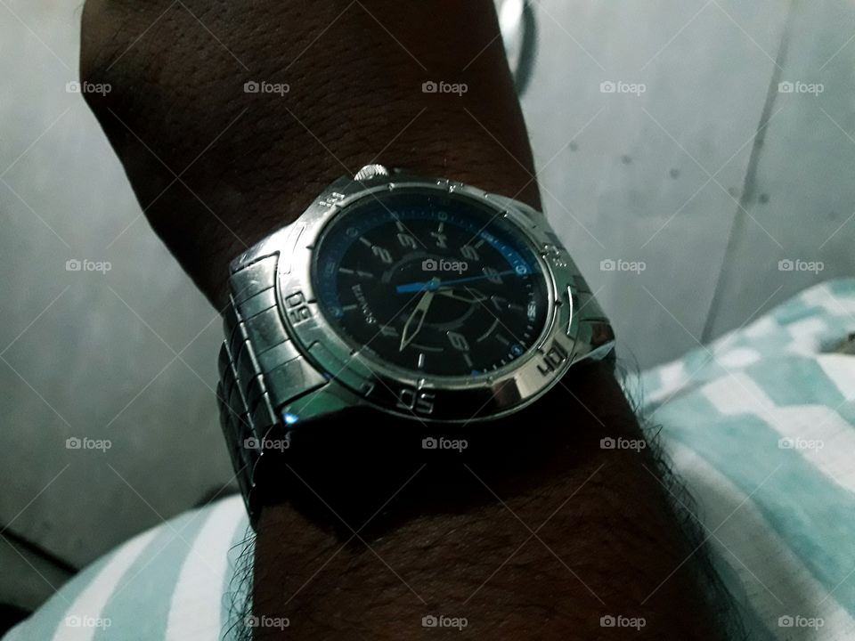 Silver color sonota watch over