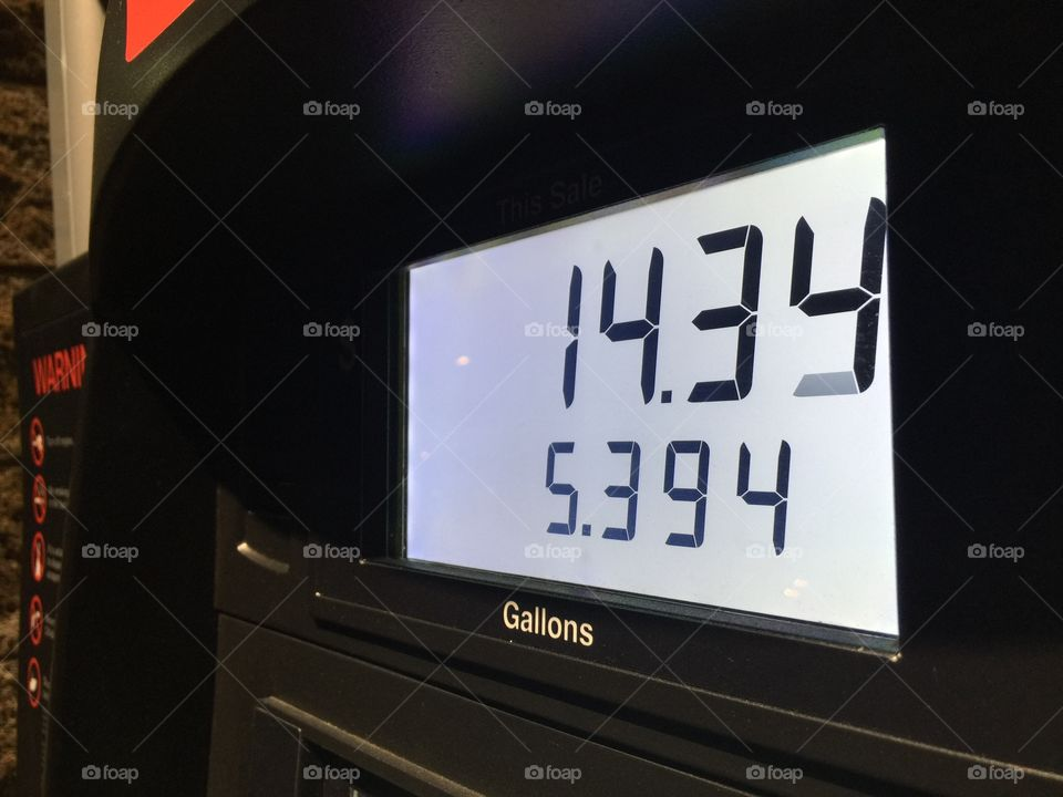 Gas price per gallon