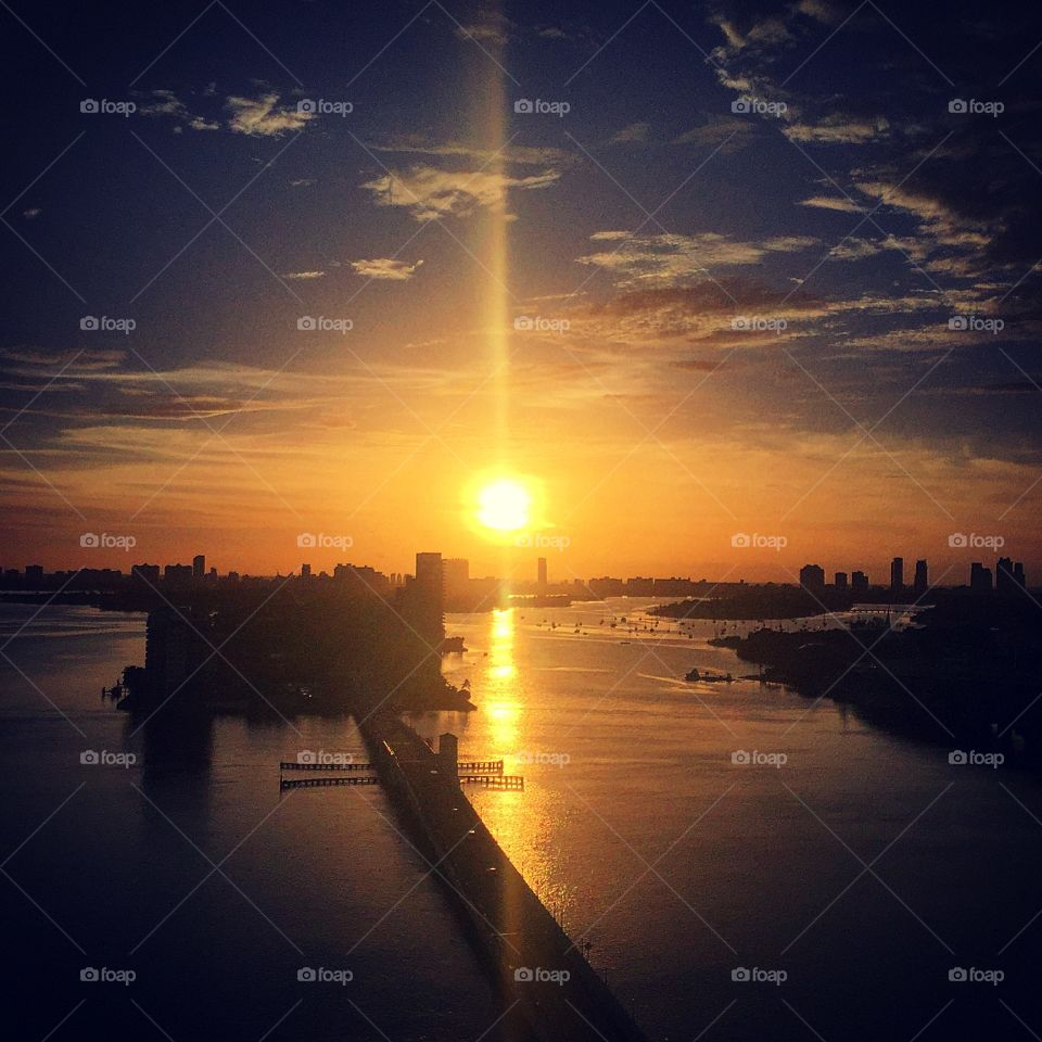 Miami sunrise view
