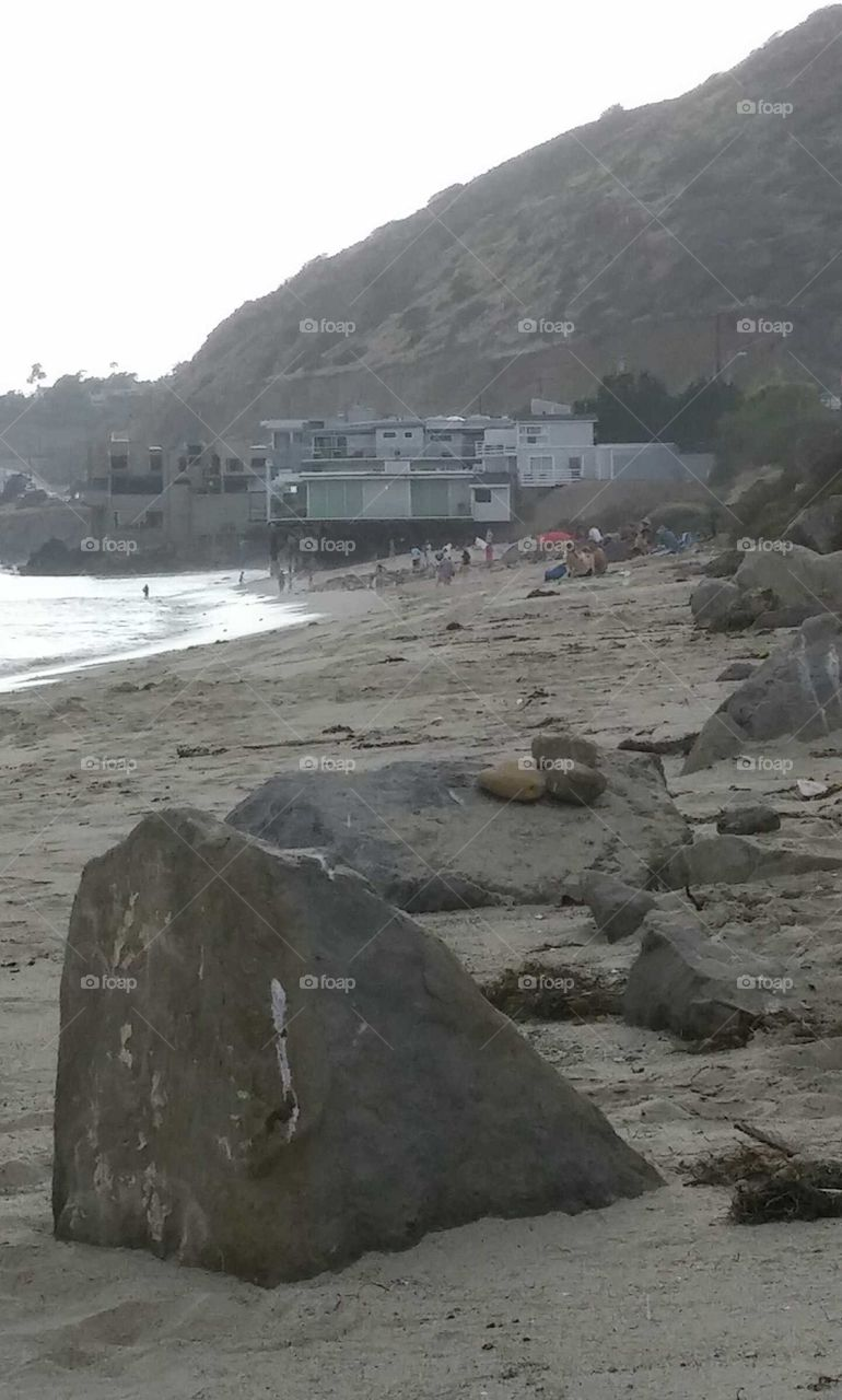 Malibu ❤. sitting on the beach in Malibu admiring the view