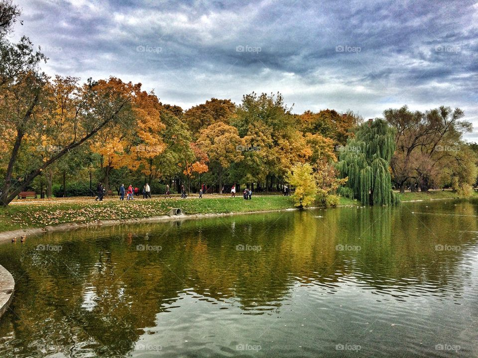 Autumn park in moscow