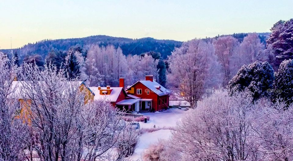 Fina byn i vinter