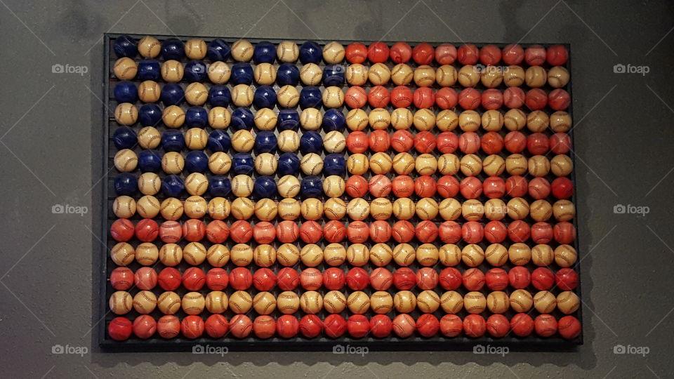 baseball flag. american past time
