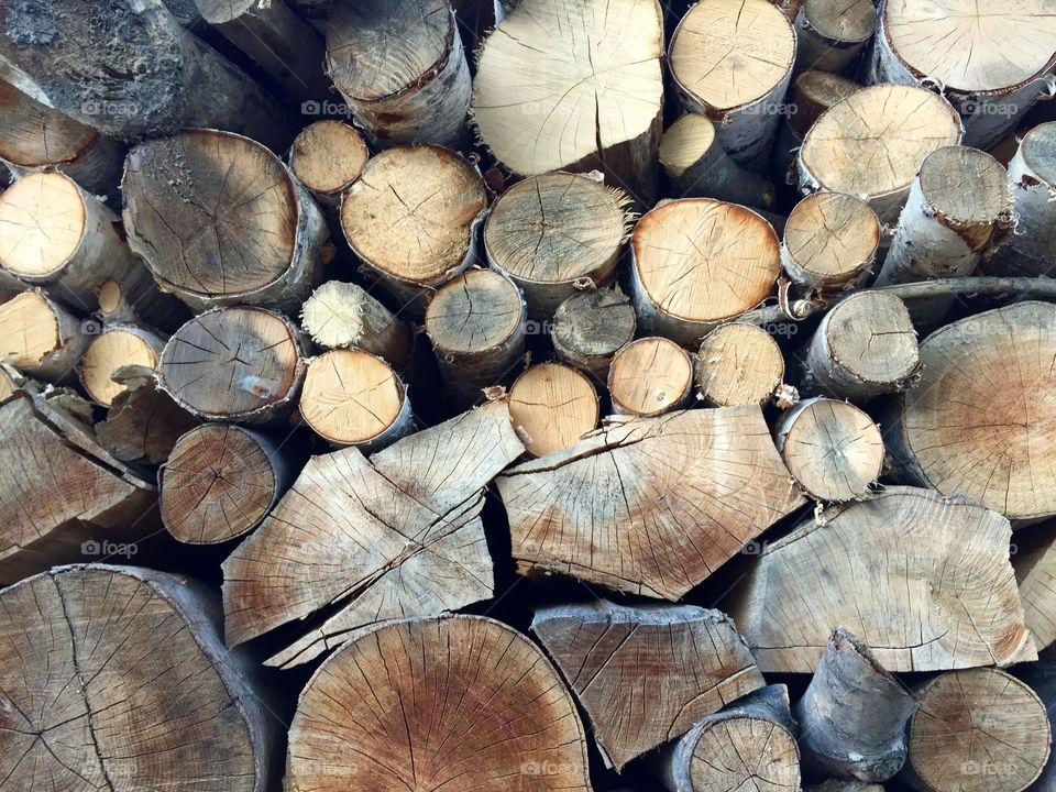 Cut firewoods