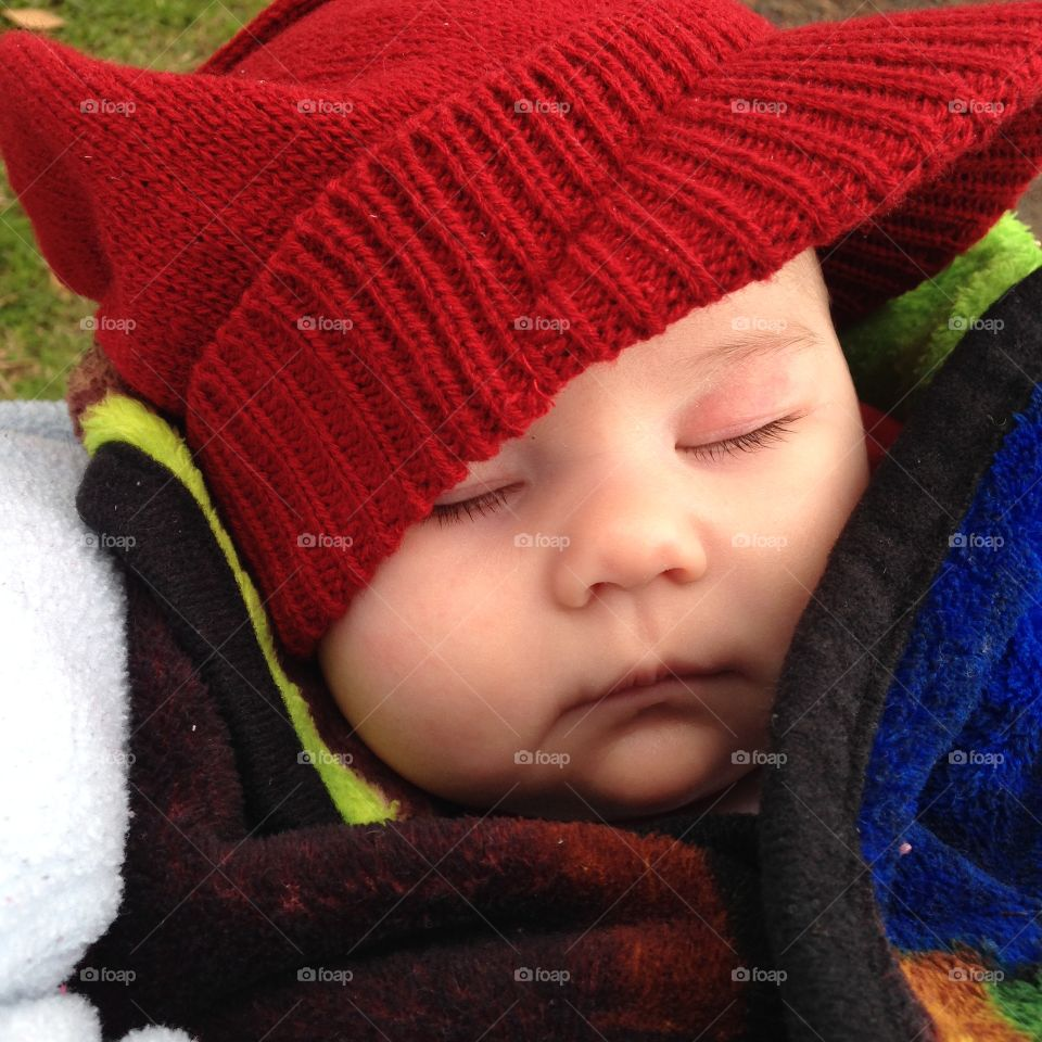 Close-up of sleeping baby