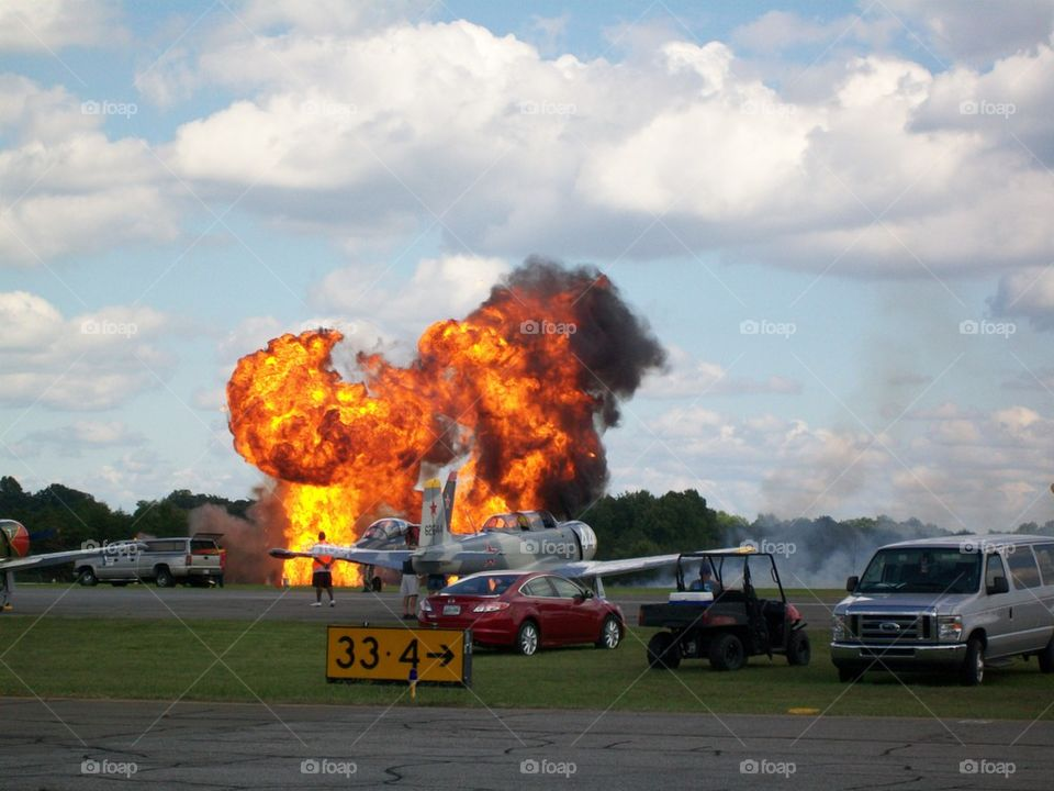 Airshow pyrotechnics 2