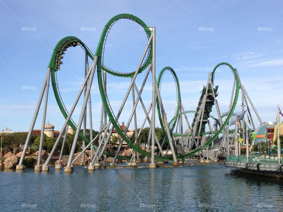 Hulk roller coaster . Hulk roller coaster