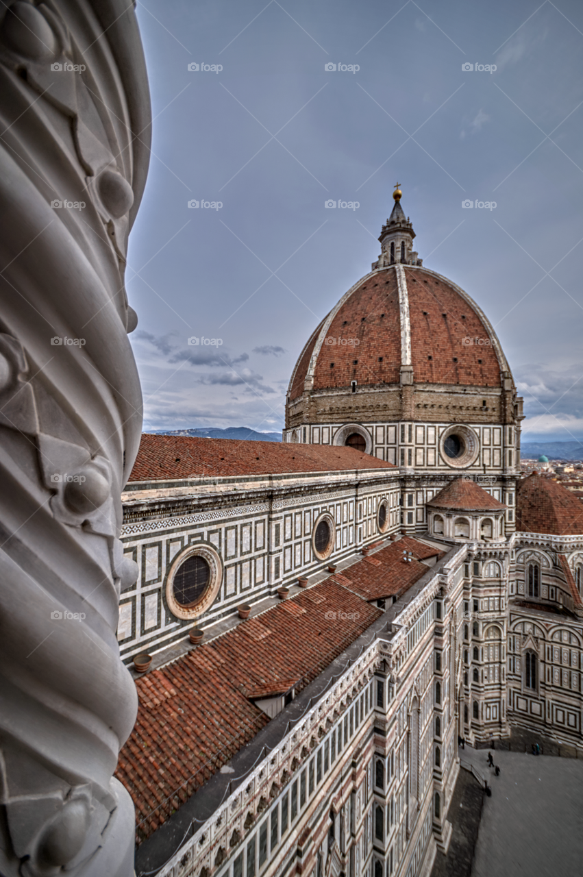 Florence cathedral dome from the bell tower