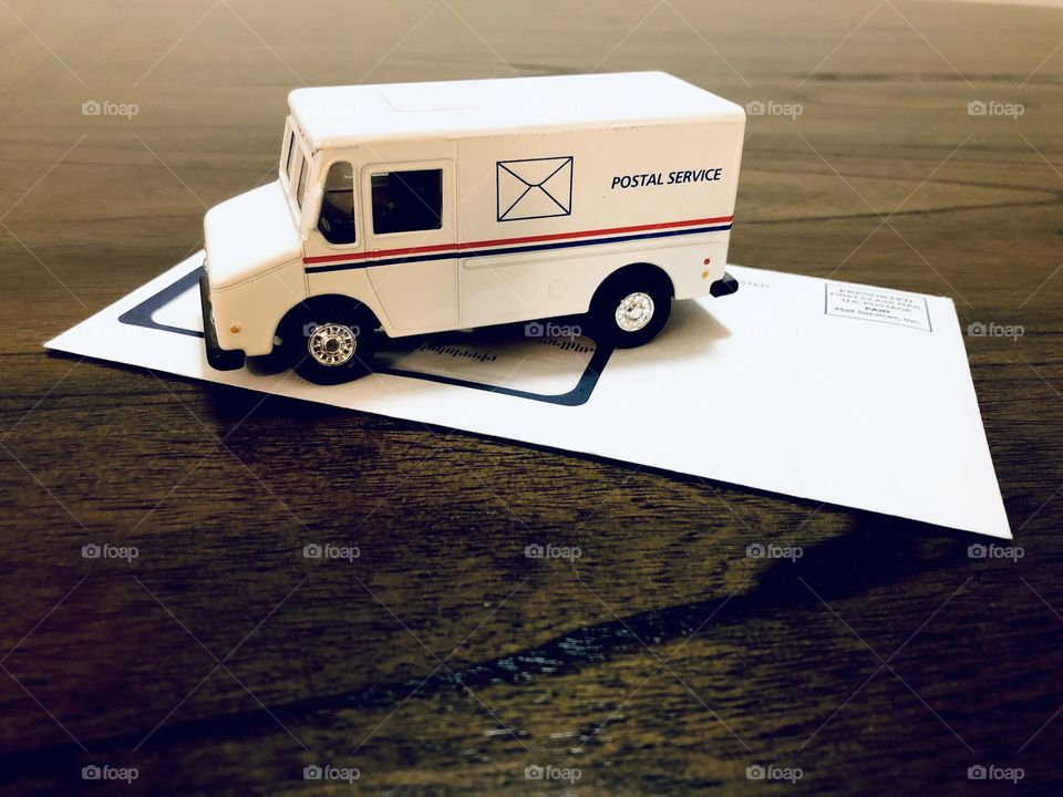 Postal service's car