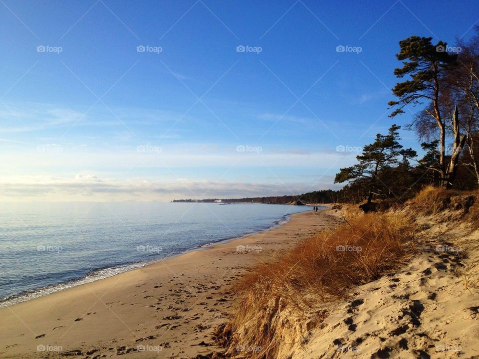 landscape beach ocean sweden by annajensen