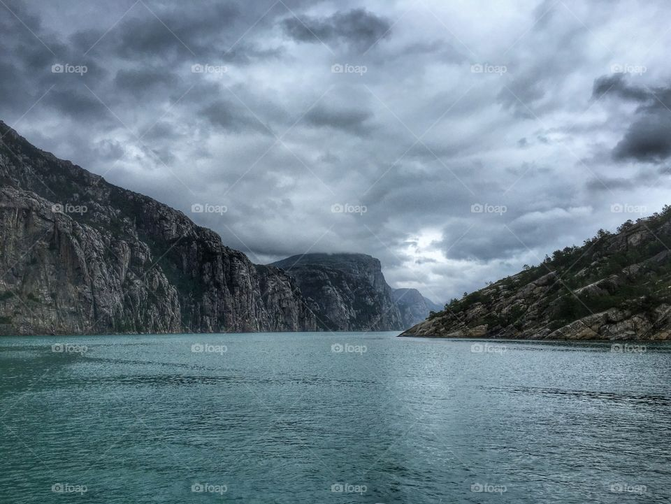 Cloudy day in the fjords