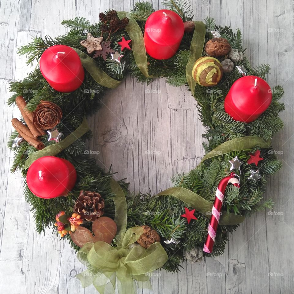 Advent wreath/ Adventskranz