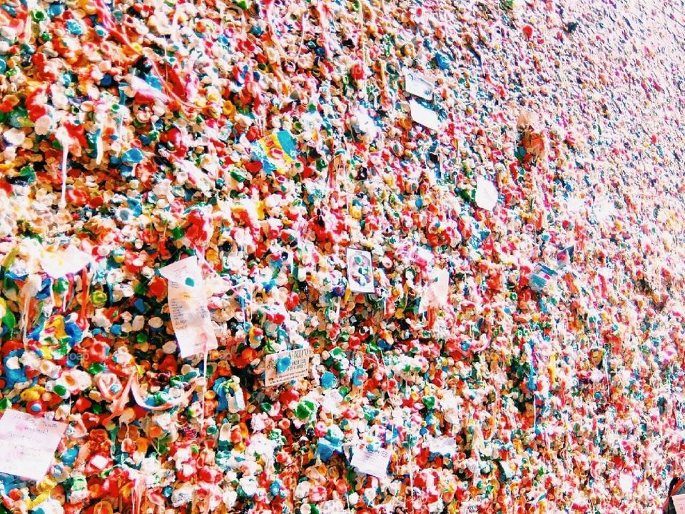 Gum wall. Gum wall in Seattle