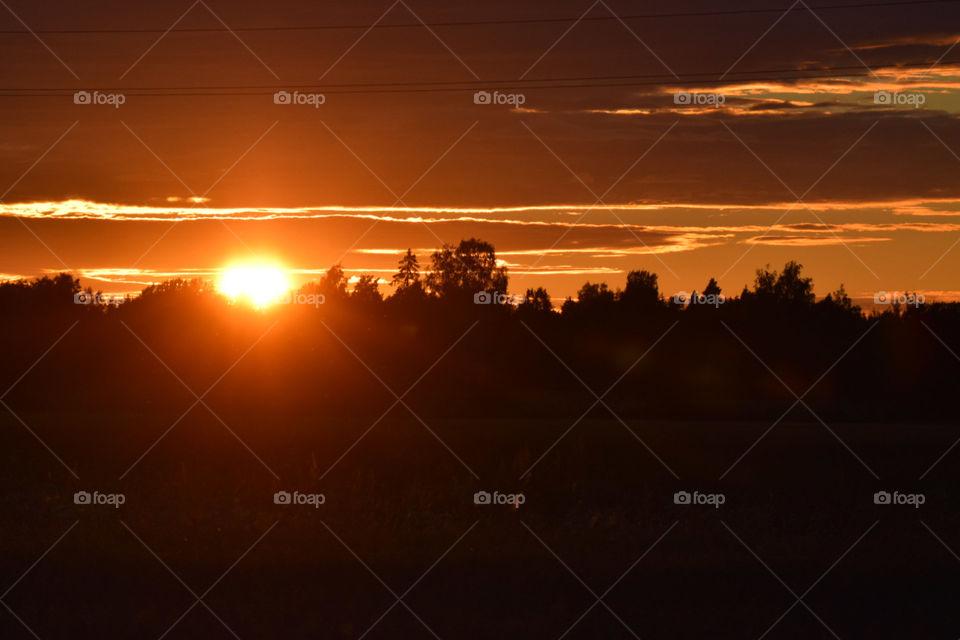 solnedgång över kvismaren