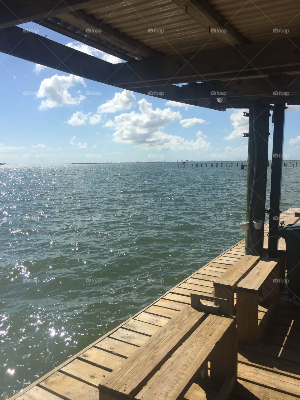 San-Leon, TX.  Galveston Bay