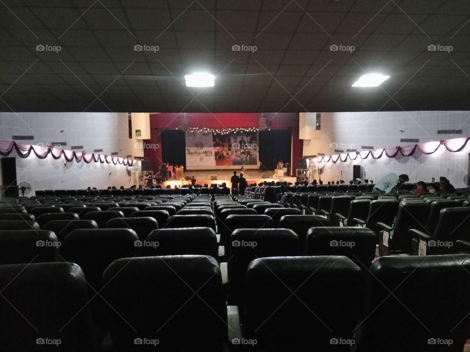 My college auditorium at starting of inogration....