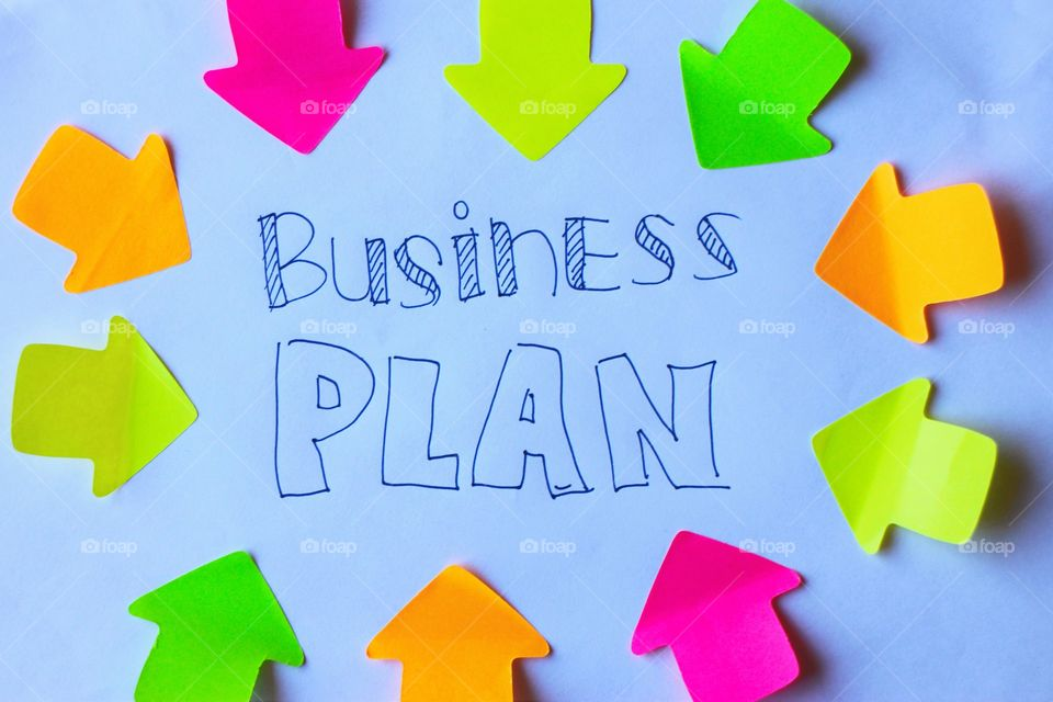 Colorful business plan image