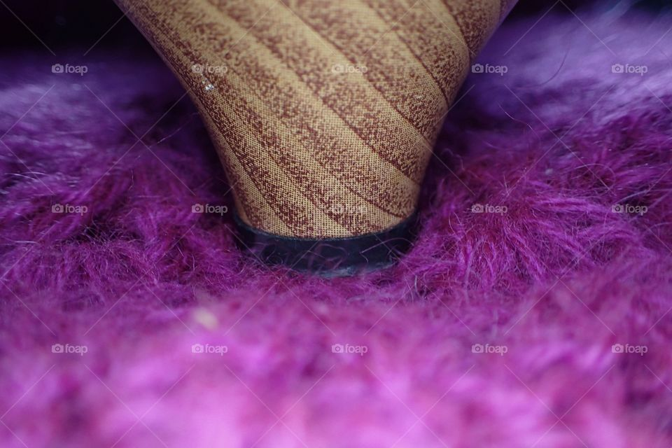 Extreme close-up of pink fur