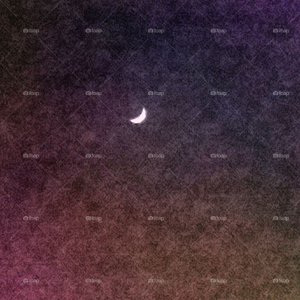 Crescent Moon/Night Sky