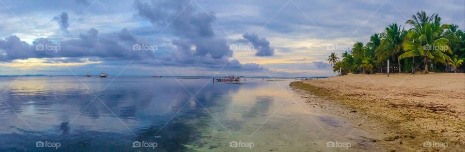 Paradise island panorama