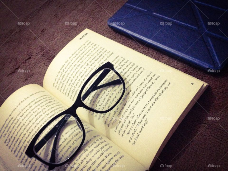 Read. Book and spectacles and stuff