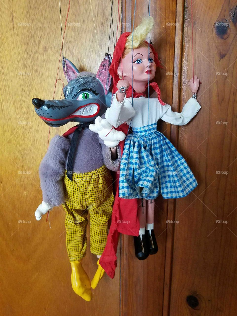 Little Red Riding Hood And the Big Bad Wolf Puppets
