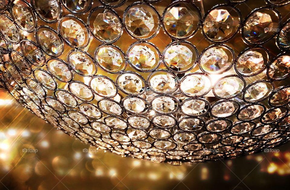 Sparkling chandelier.