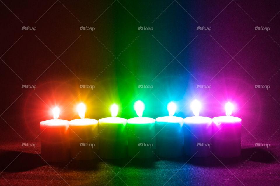 Rainbow Candle Assortment